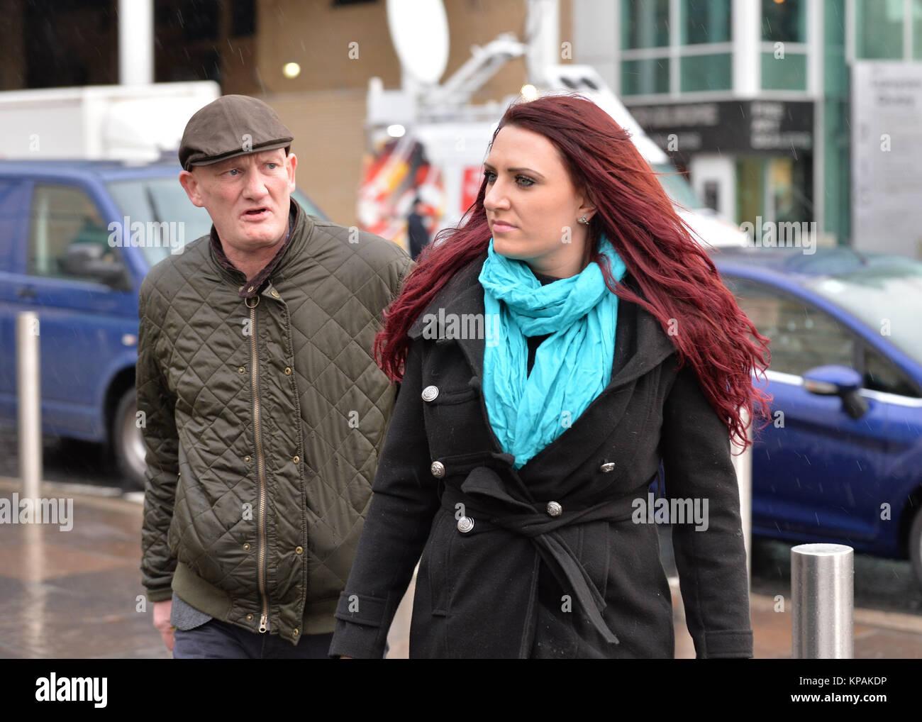 Belfast, Northern Ireland, U.K. 14th Dec 2017. Britain First's Jayda Fransen making her first court appearance - Stock Image