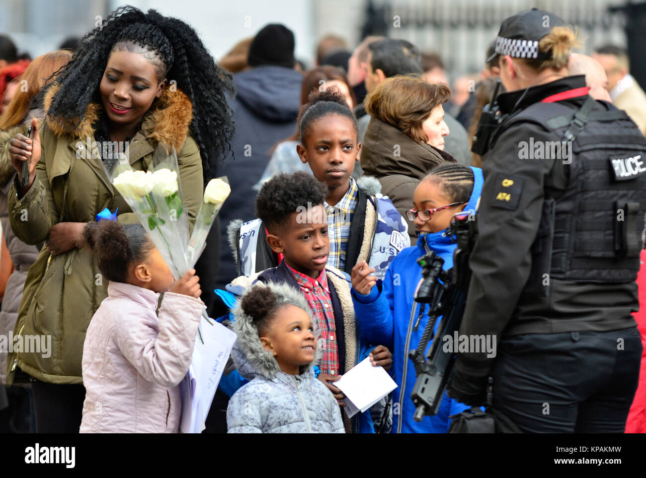 London, UK. 14th Dec, 2017. Survivors, families and members of the Royal Families attend a service at St Pauls, - Stock Image