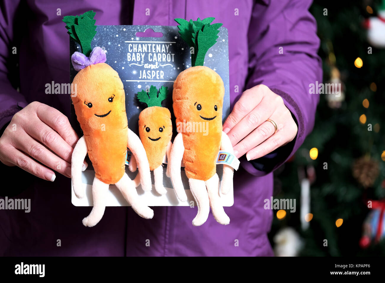 Bristol, UK. 14th Dec, 2017. Aldi's Carrot family plush toys went on sale in the UK today. Kevin and Katies - Stock Image