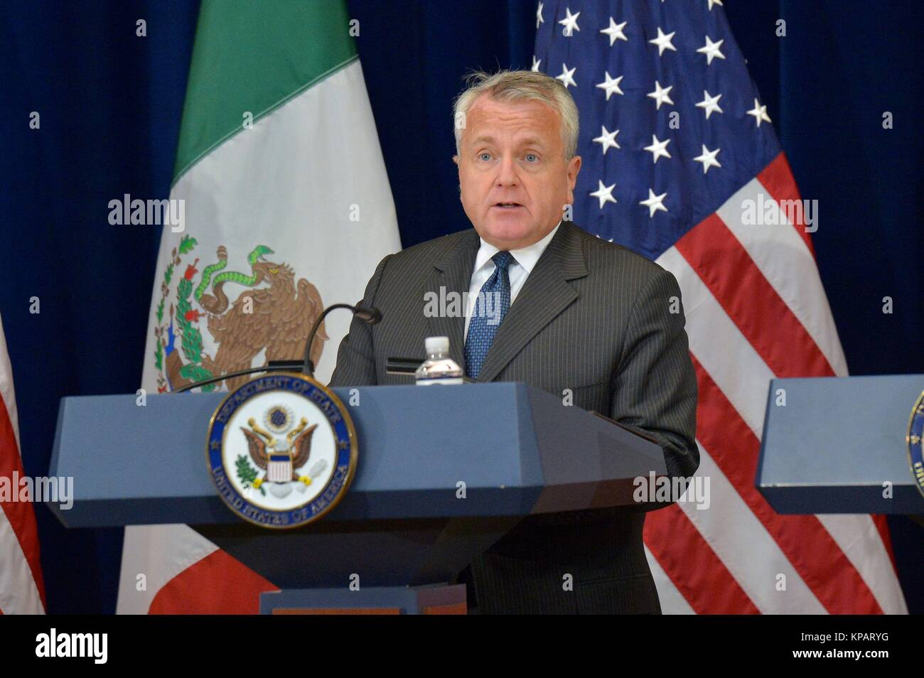 Washington DC, USA. 14th Dec, 2017. U.S. Deputy Secretary of State John Sullivan delivers remarks at the Second - Stock Image