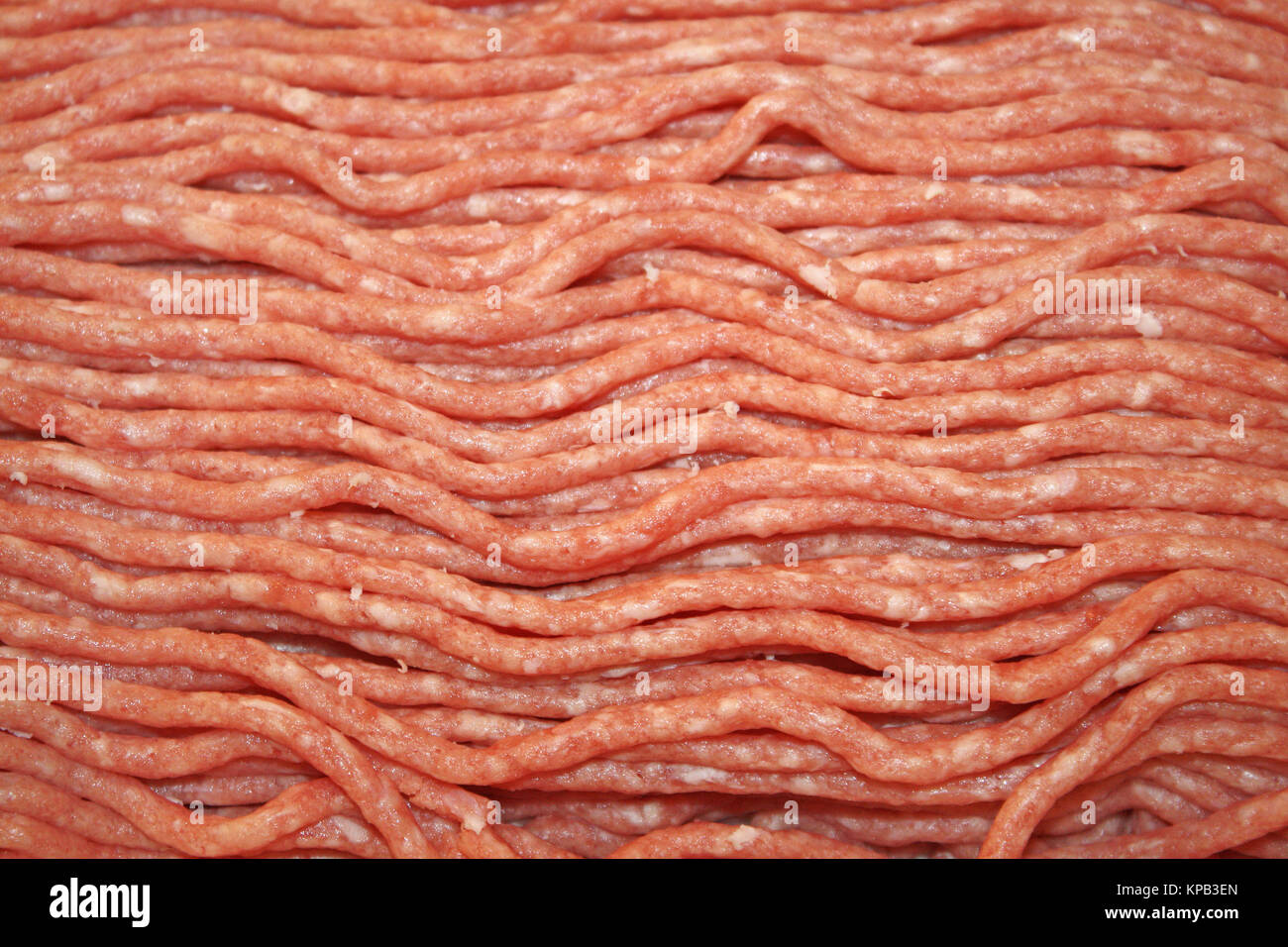 Lean Ground Beef fresh from the Butcher - Stock Image