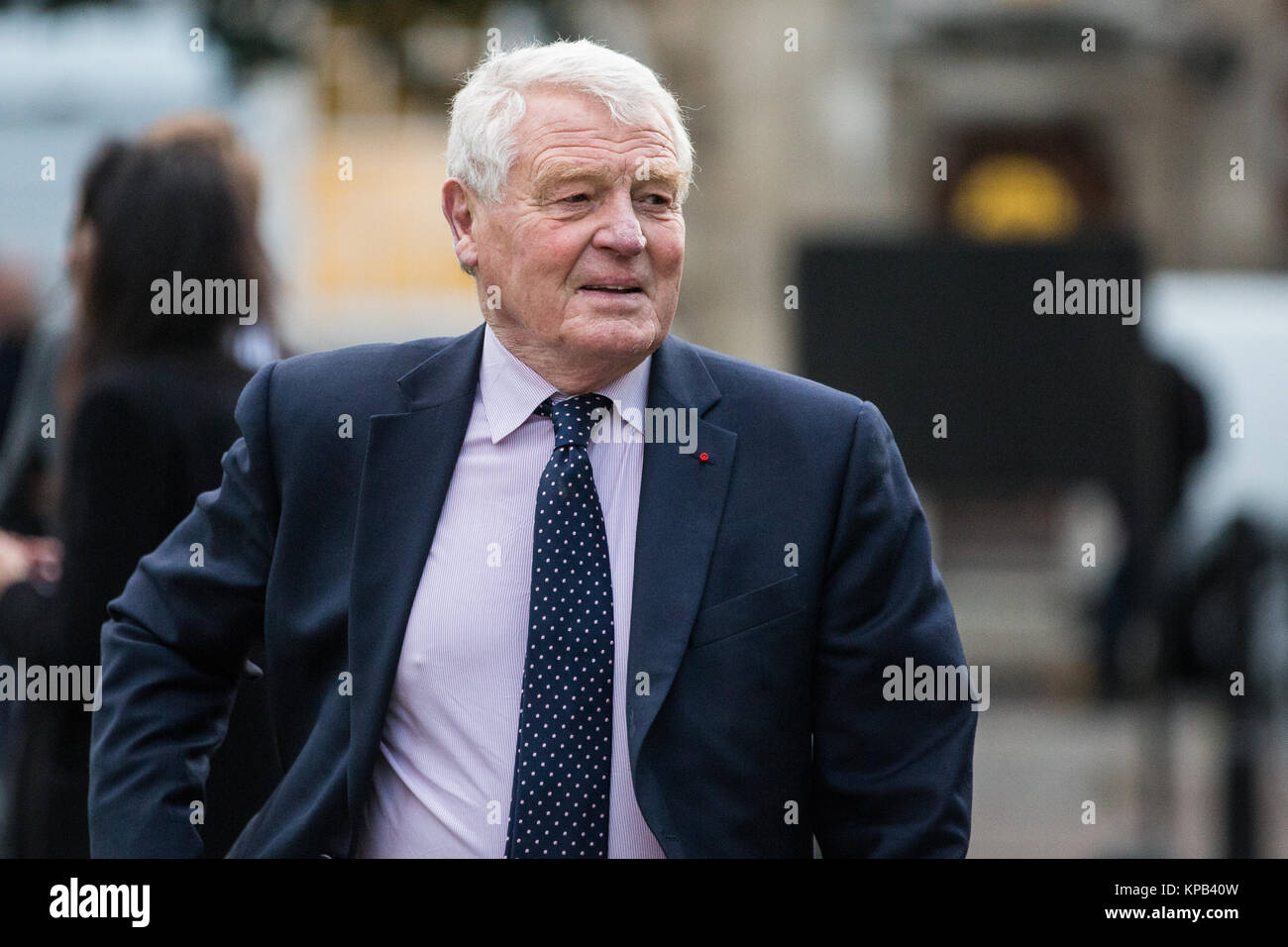 London, UK. 22nd November, 2017. Paddy Ashdown, Liberal Democrat politican and former diplomat, arrives on College Stock Photo