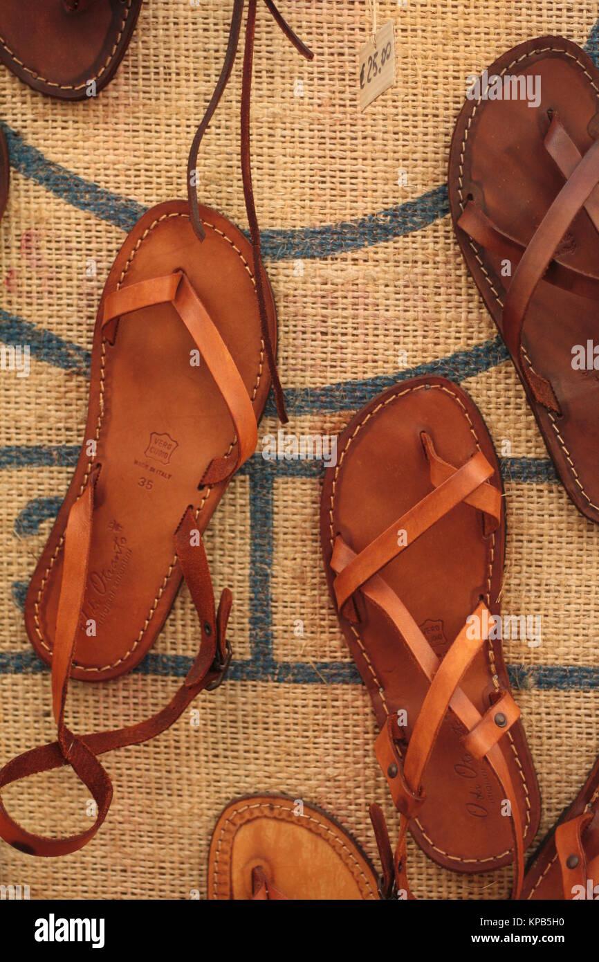 2033263b2 Craft leather sandals on sale Stock Photo  168661612 - Alamy