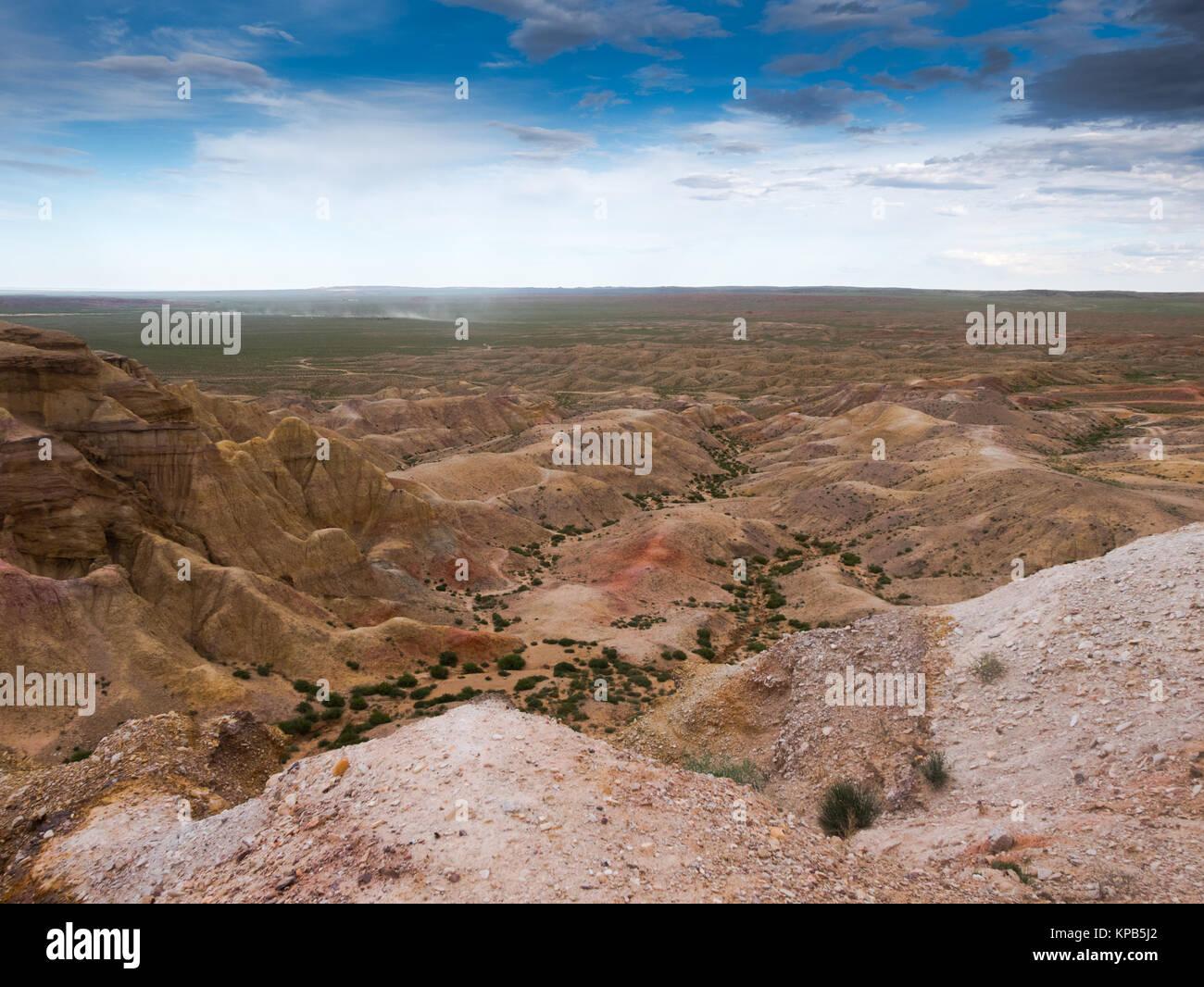 canyons in Mongolia, tsagaan suvraga. Bright landscape - Stock Image