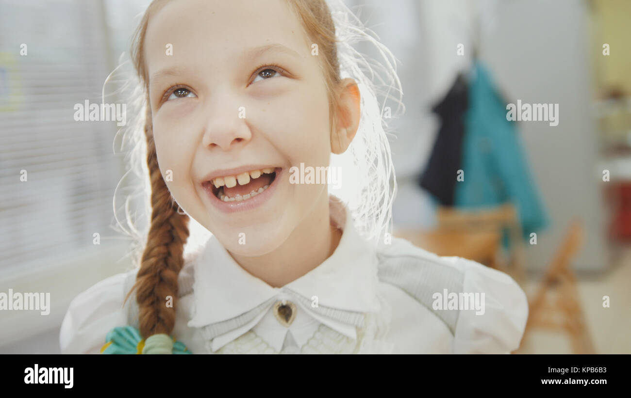 Little girl have funny and smiling - Stock Image