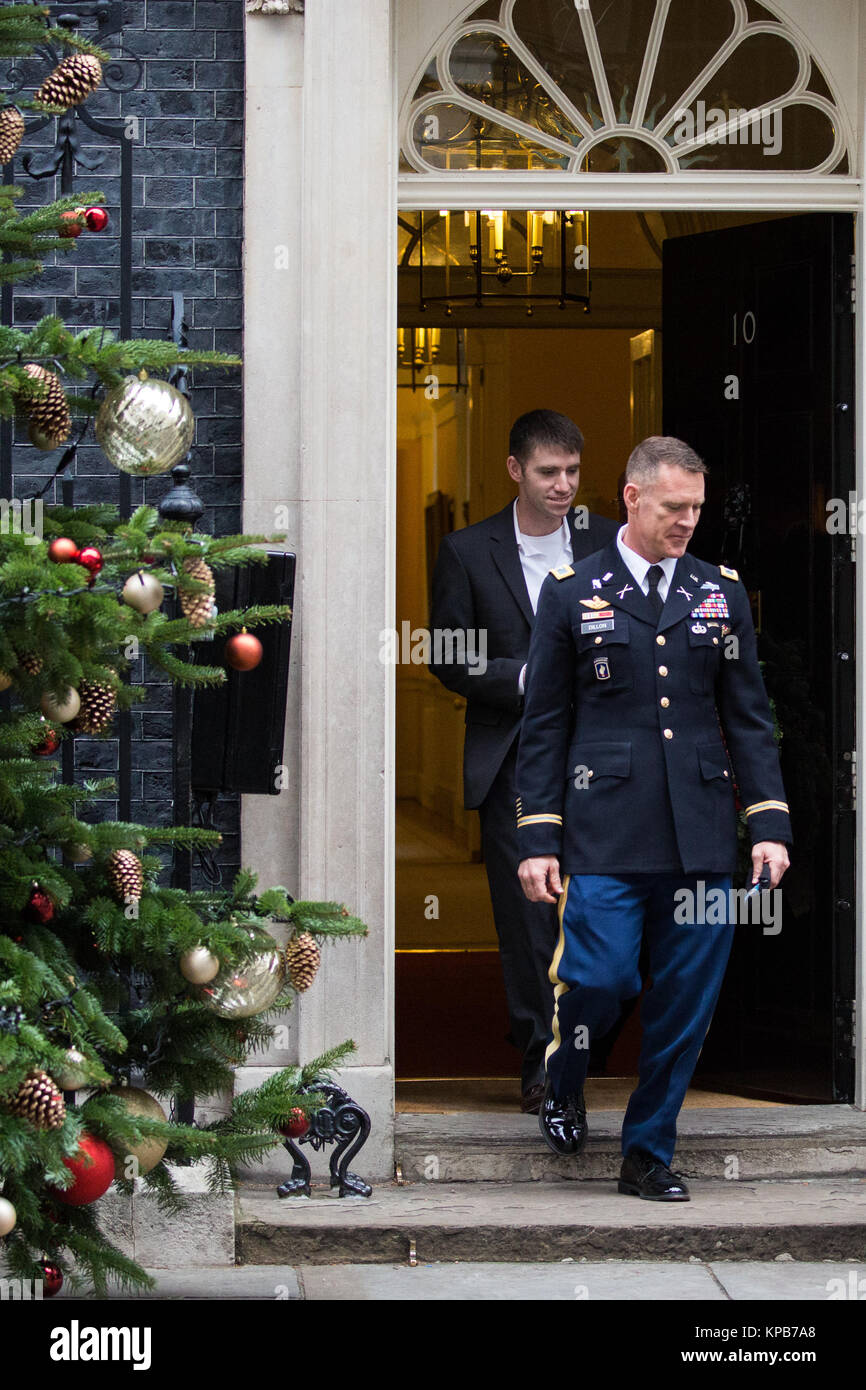 London, UK. 5th December, 2017. Colonel Ryan Dillon, Spokesman for Combined Joint Task, Operation Inherent Resolve - Stock Image