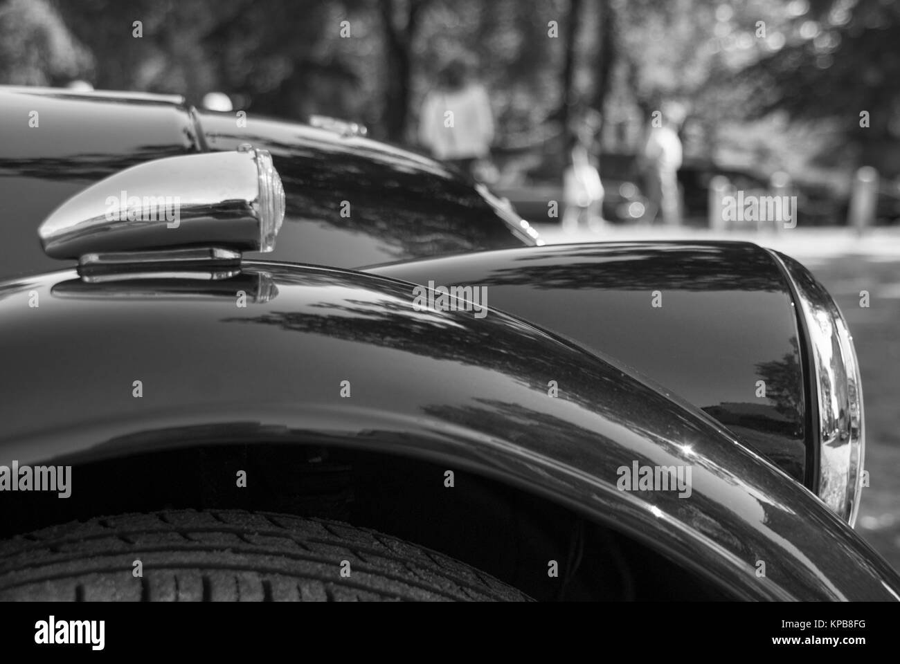 Front of a classic car - Stock Image