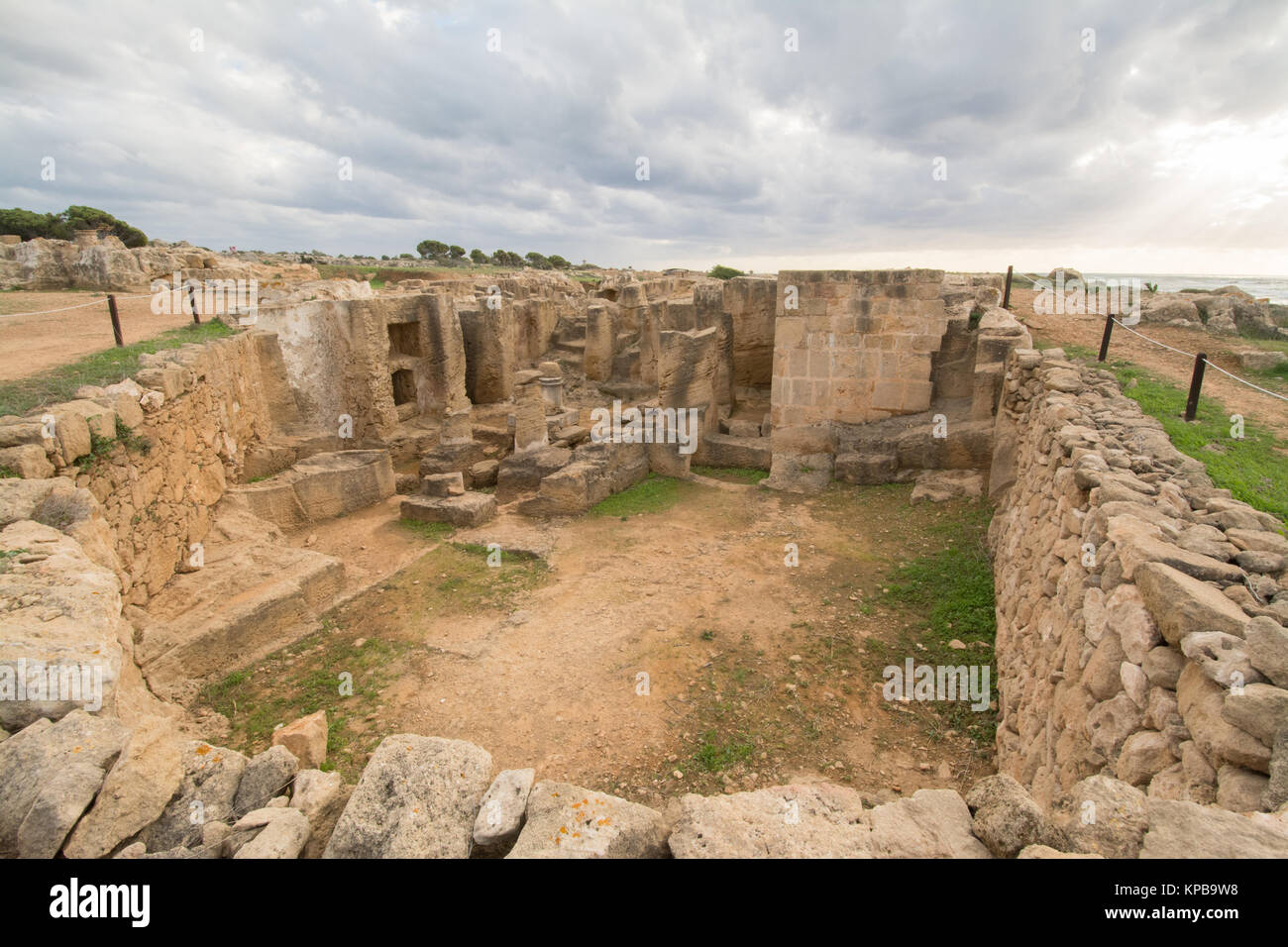 The Tombs of the Kings, part of the archeological site in Paphos, Cyprus - Stock Image