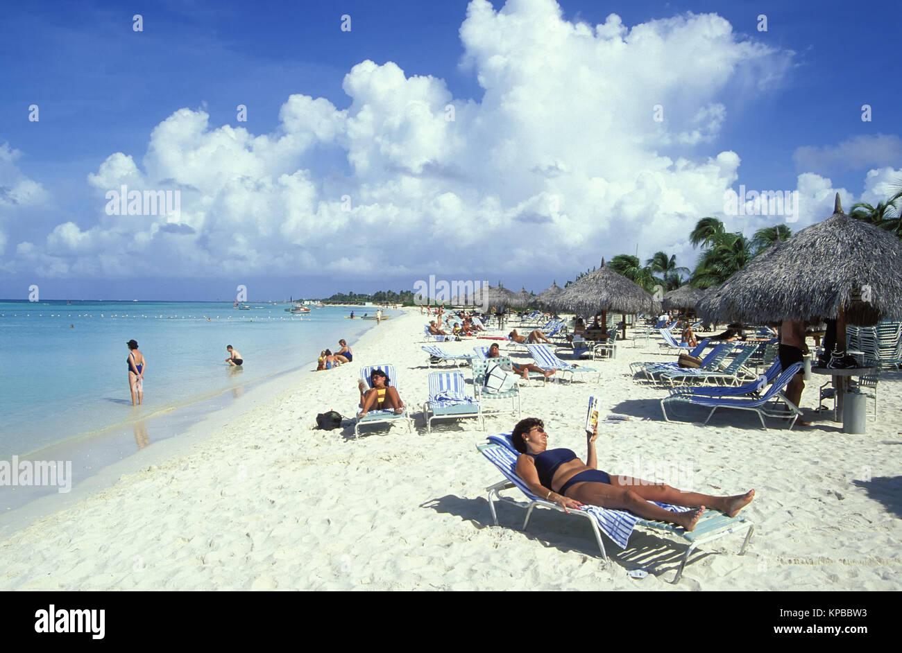 Palm Beach, Aruba, Netherlands Antilles - Stock Image