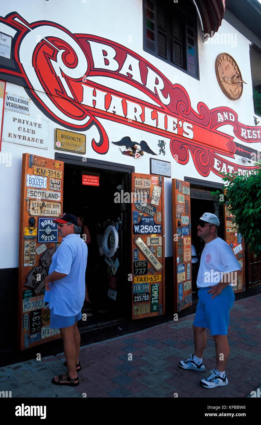 San Nicolas, Charlies Bar,  Aruba, Netherlands Antilles - Stock Image