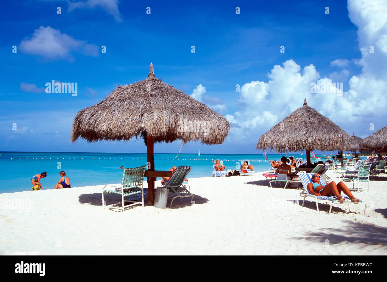 Palm Beach, Westcoast,  Aruba, Netherlands Antilles - Stock Image