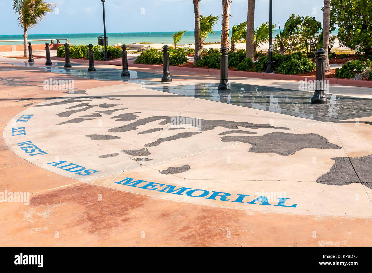 The Key West Aids Memorial at Higgs Memorial Beach, Key West, Florida - Stock Image