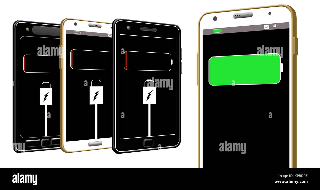 Phone Charging Cut Out Stock Images Pictures Alamy Battery Cell Diagram Editable Powerpoint Template A With Dying Is The Subject Of This Illustration About Mobile