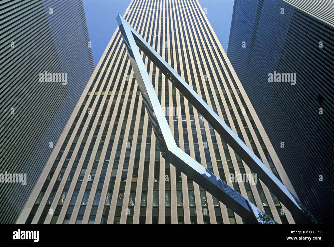 1987 HISTORICAL MCGRAW HILL BUILDING SIXTH AVENUE MANHATTAN NEW YORK CITY USA - Stock Image