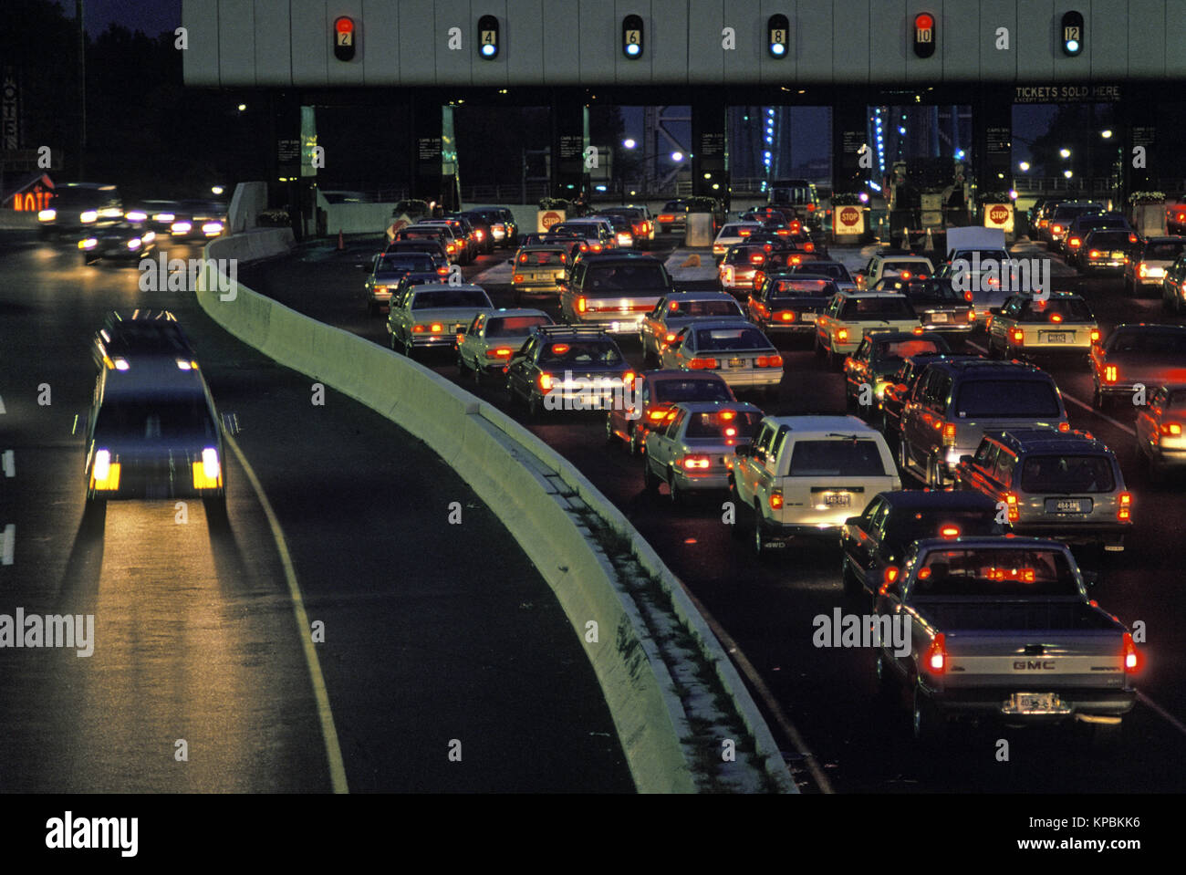 1988 HISTORICAL AUTOMOBILES TOLL PLAZA GEORGE WASHINGTON BRIDGE NEW JERSEY USA - Stock Image