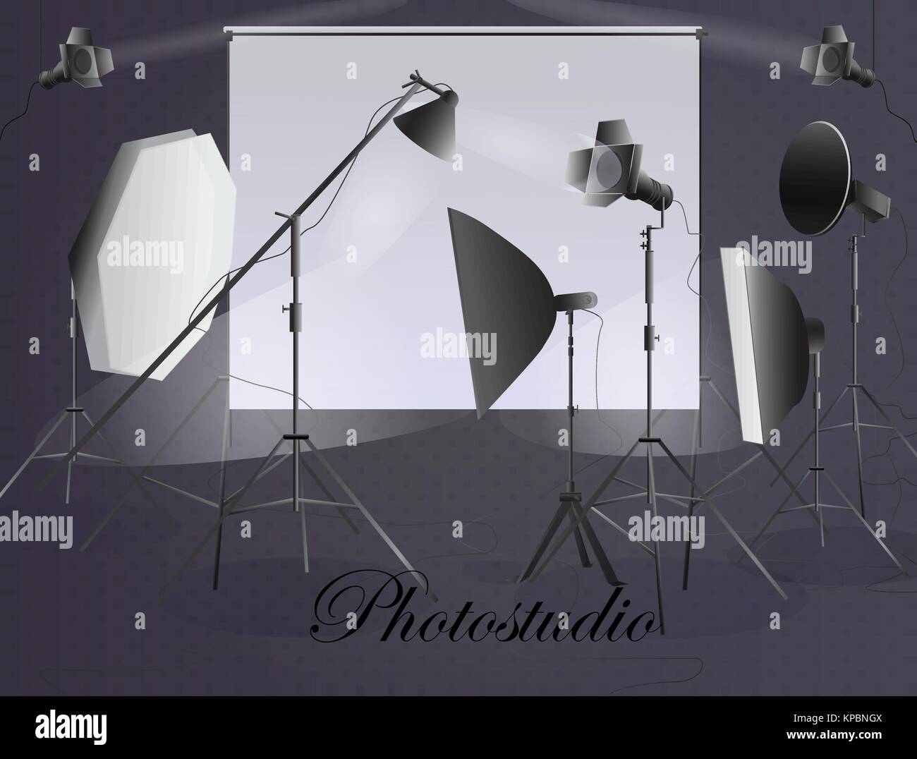 Photographic equipment. Photostudio. - Stock Image