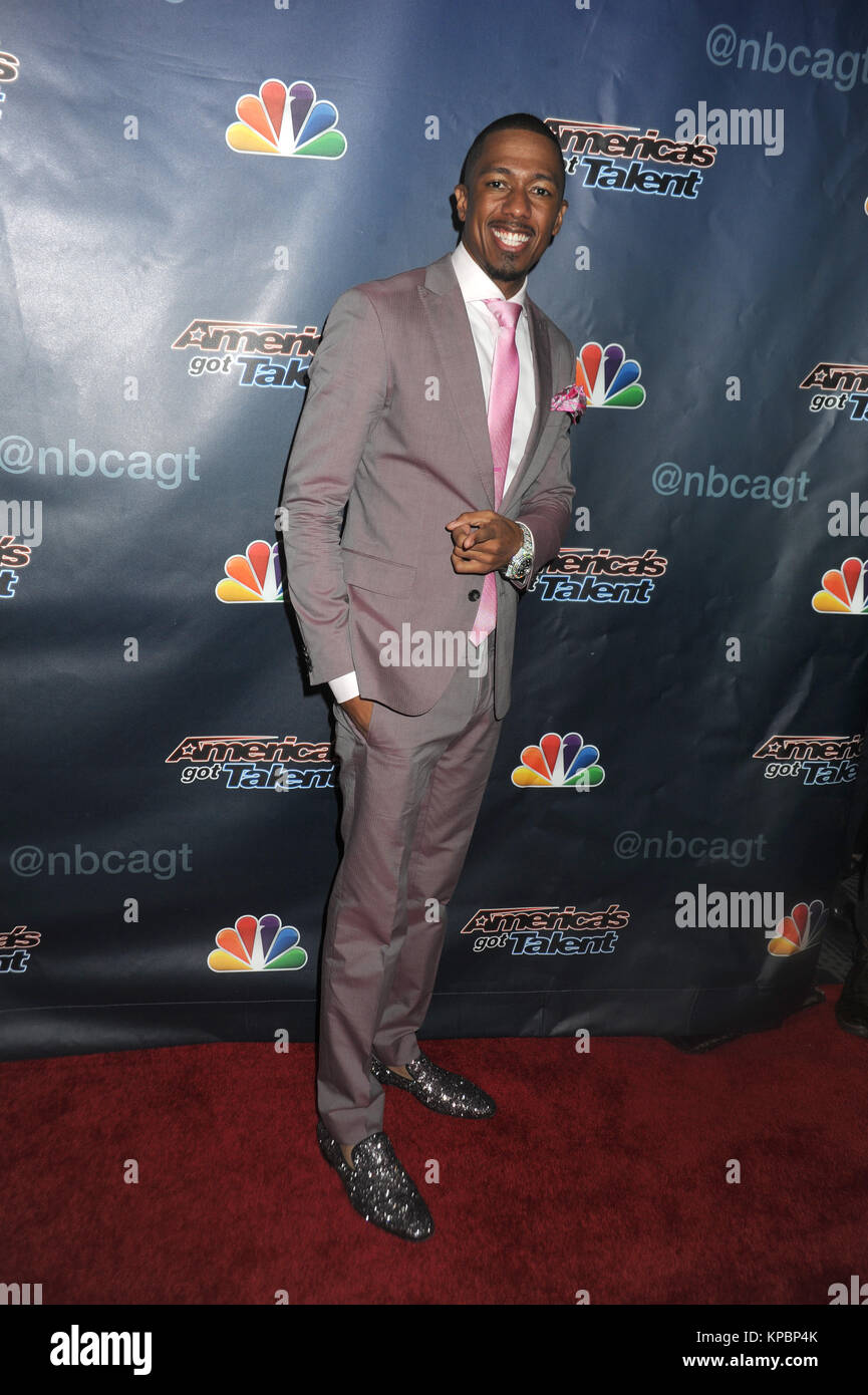 NEW YORK, NY - AUGUST 19: Nick Cannon attends 'America's Got Talent' post-show red carpet event at Radio City Music Stock Photo
