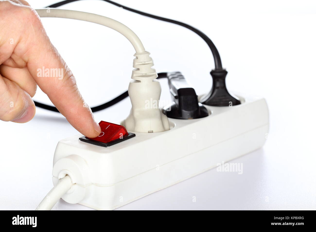 energy symbol with switch - Stock Image