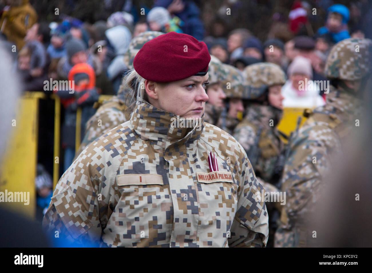 November 18, 2017  Portret of Latvian military police