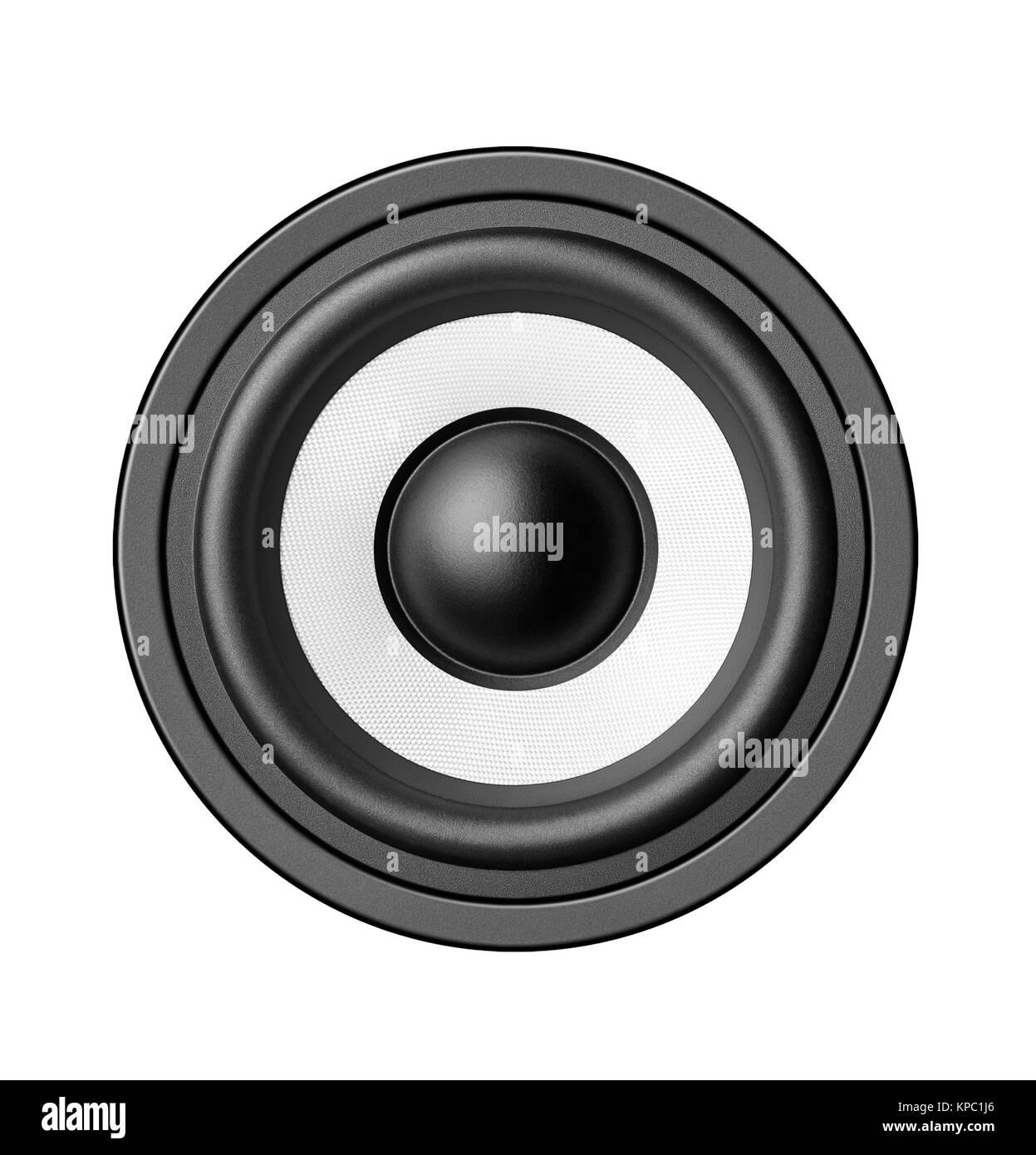 Speaker isolated on white background - Stock Image