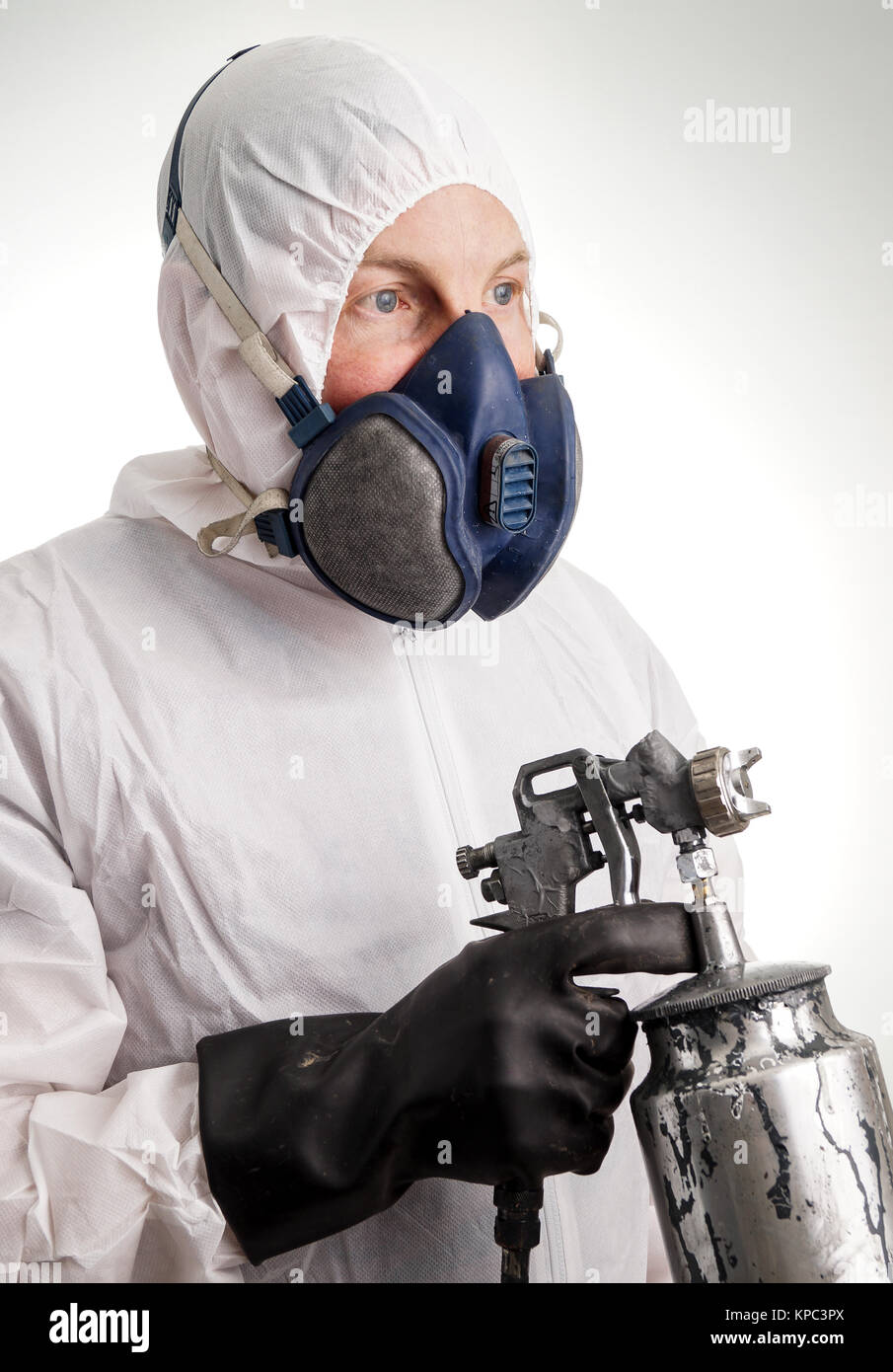 Man in protective suit - Stock Image