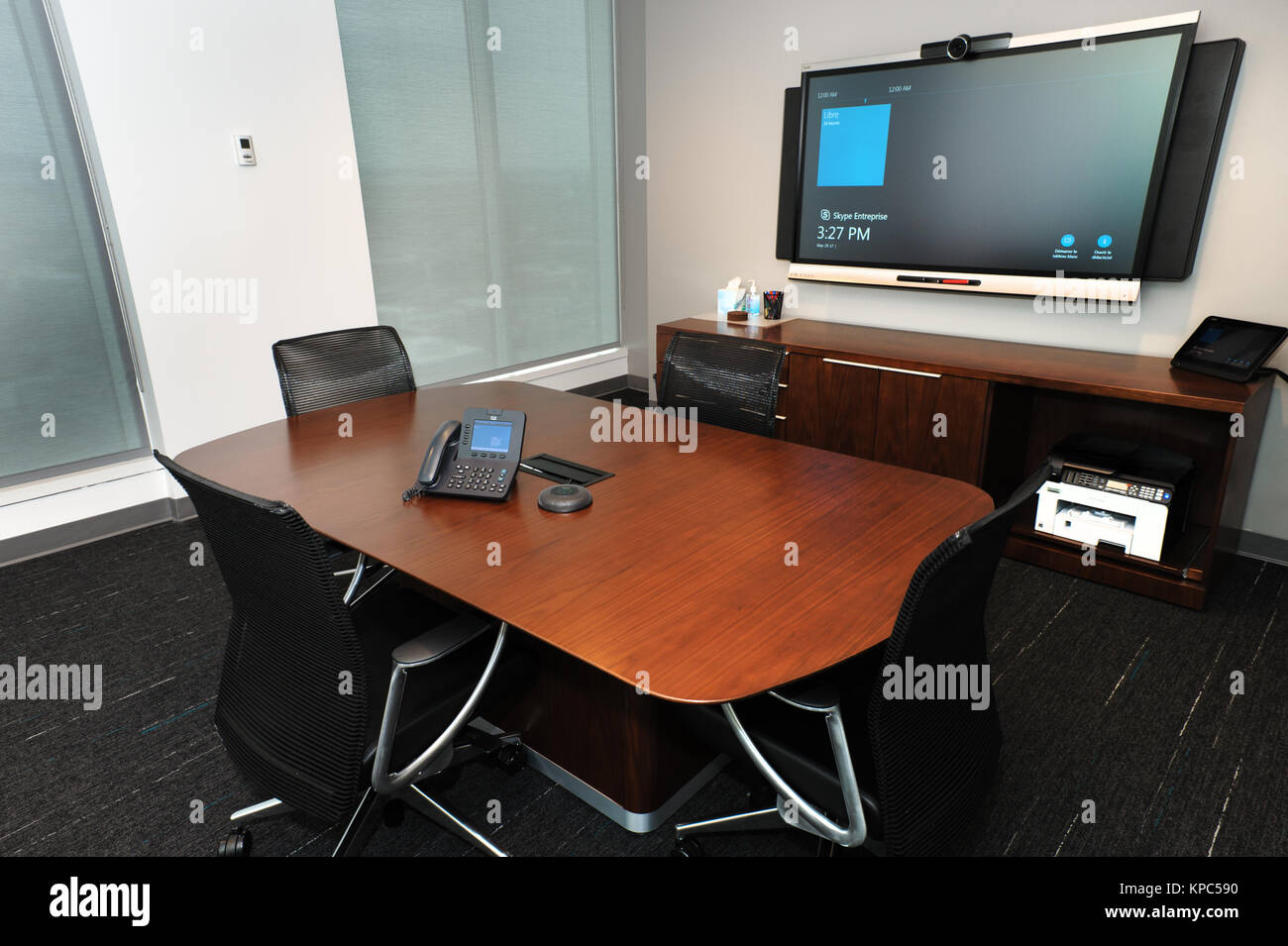 Meeting room of a modern corpporate office. - Stock Image