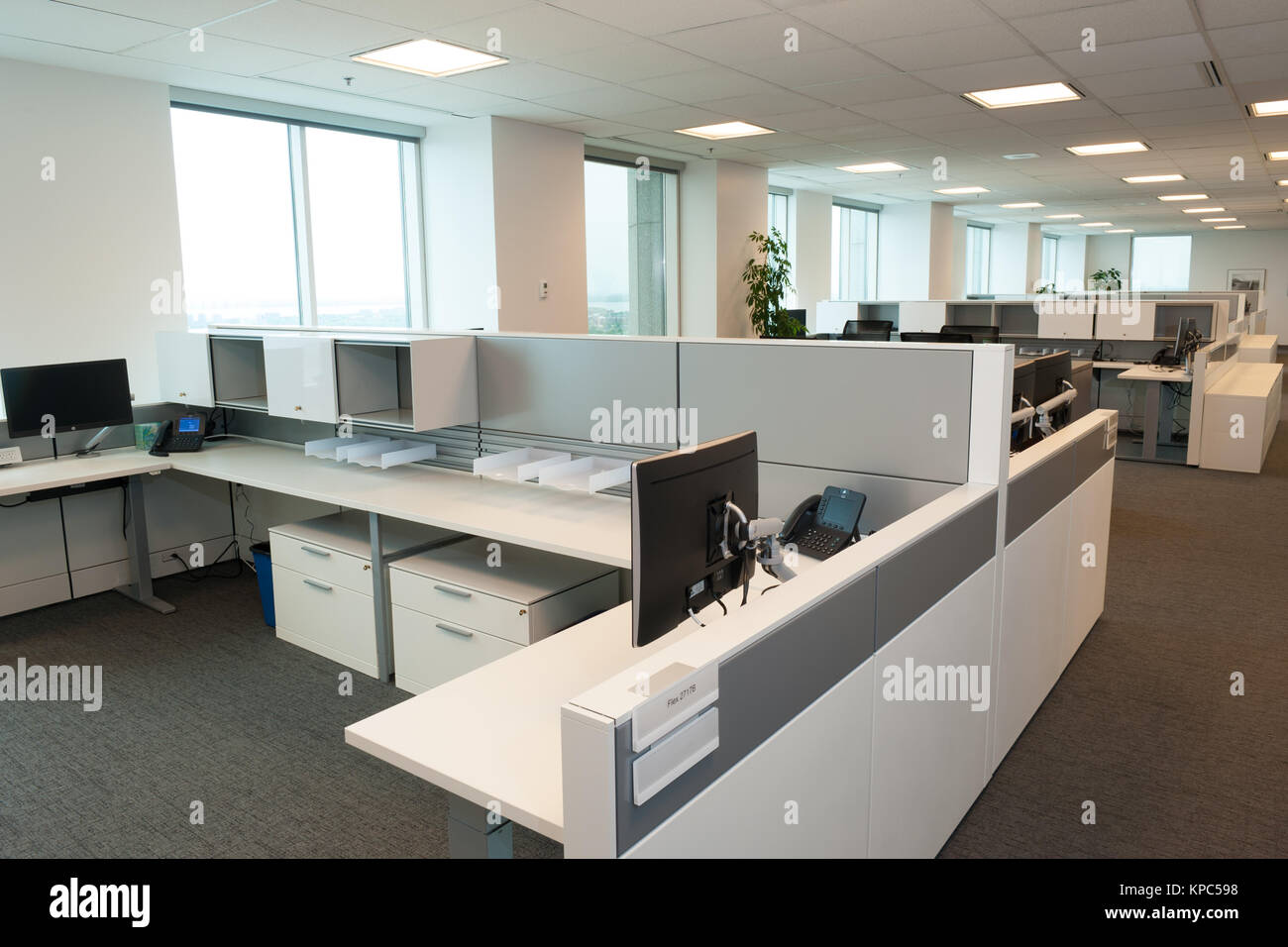 Open concept office interior. - Stock Image