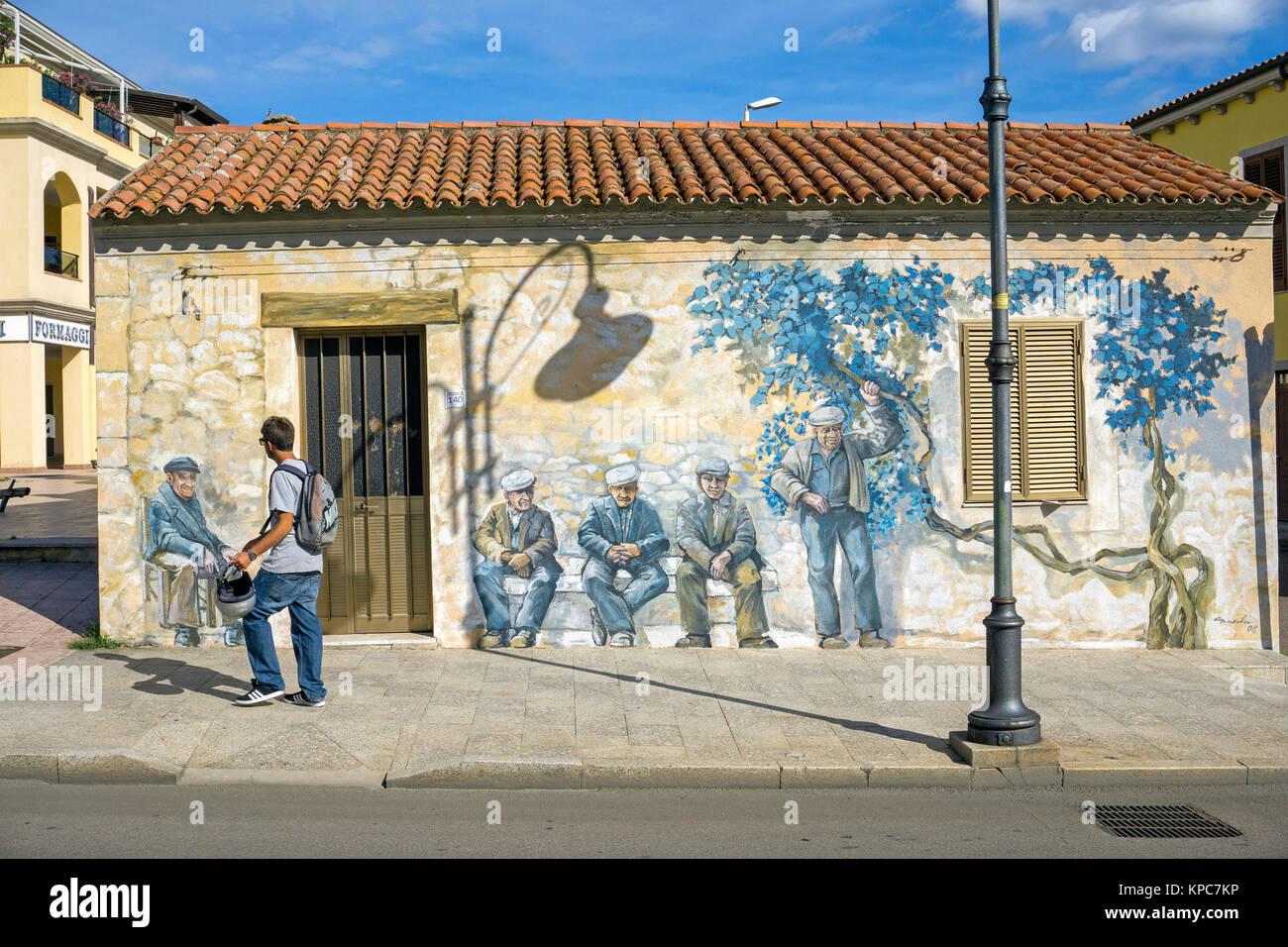 Murals Wall Painting At Palau Costa Smeralda Sardinia Italy