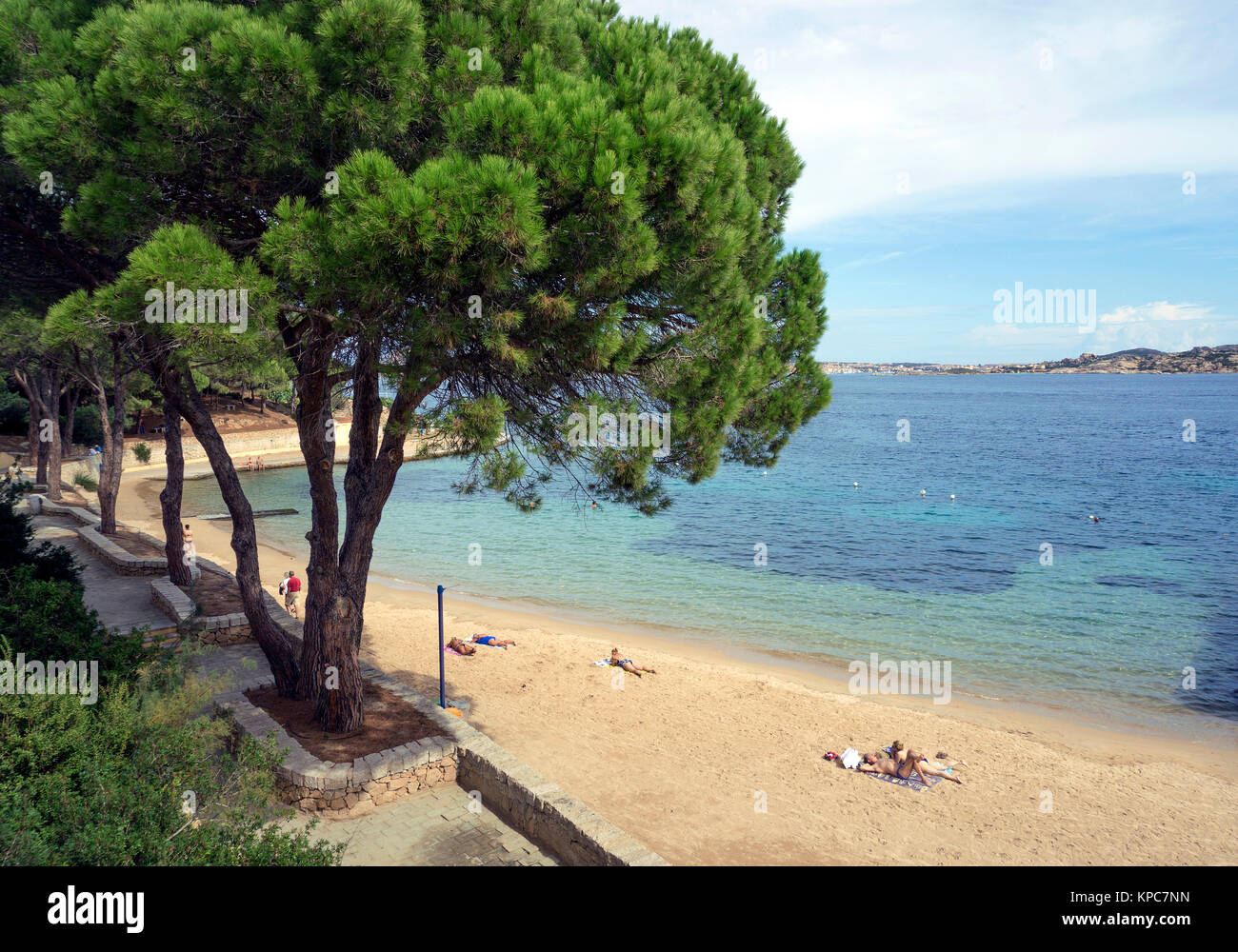 Beach at Palau, Costa Smeralda, Sardinia, Italy, Mediterranean  sea, Europe - Stock Image