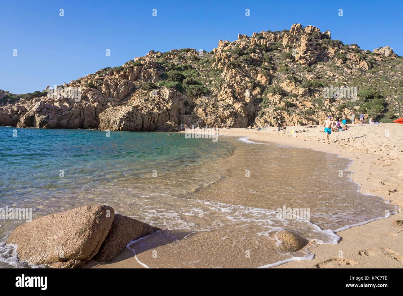 The beach Li Cossi at Costa Paradiso, one of the most beautifully   beach on Sardinia, Italy, Mediterranean  sea, - Stock Image