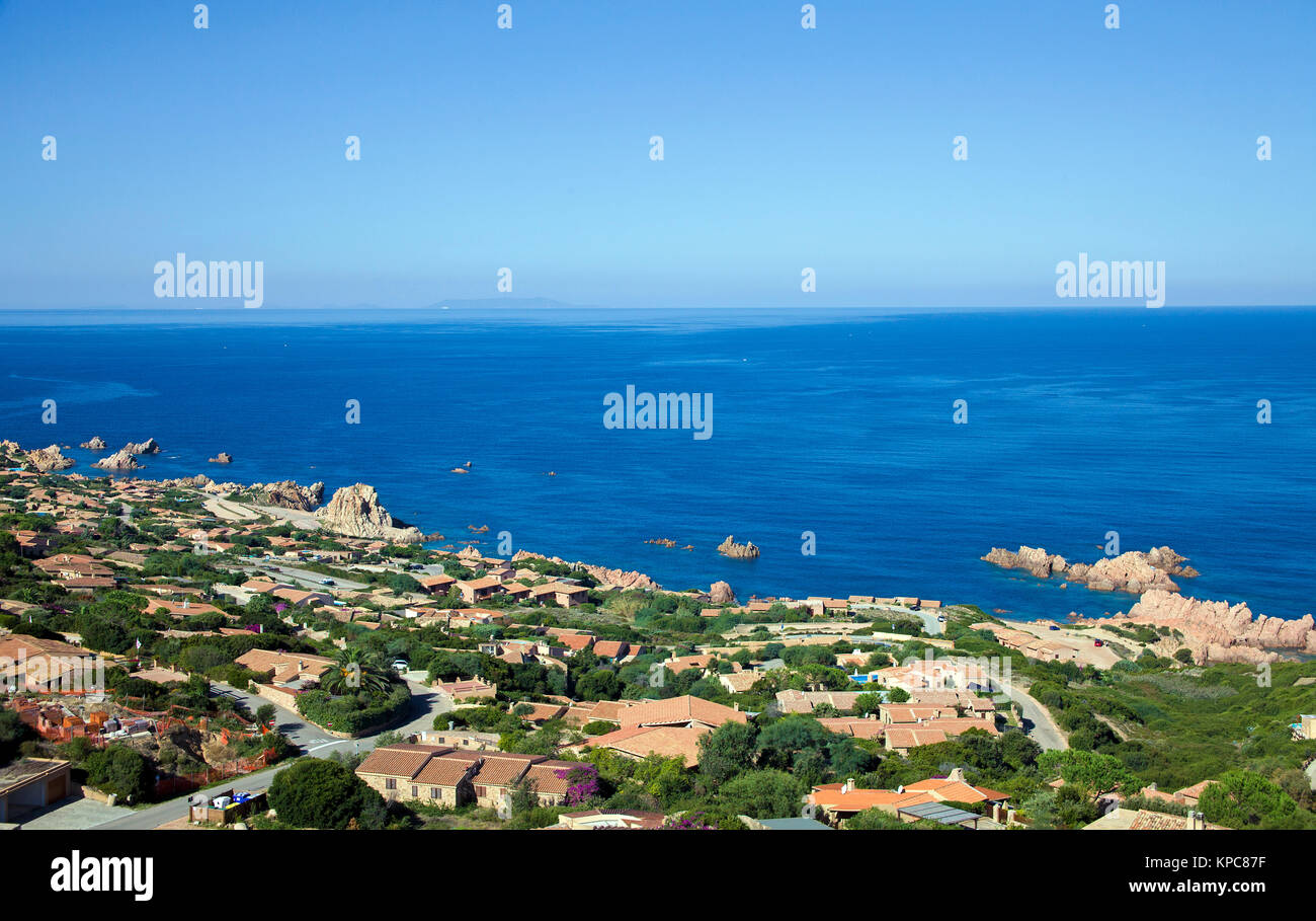 Holiday complex at Costa Paradiso, Sardinia, Italy, Mediterranean  sea, Europe - Stock Image