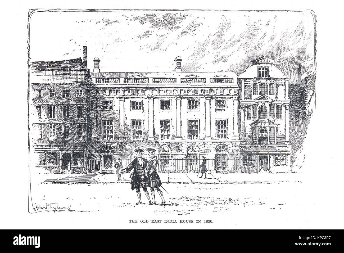 The Old East India house, London in 1630 - Stock Image