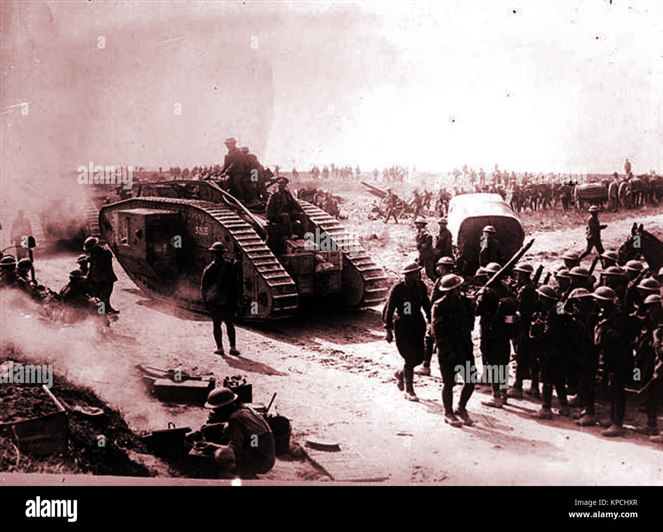 Russia gave in on December 2, 1917 to the Central Powers. On the home and military fronts, Russia was exhausted. - Stock Image
