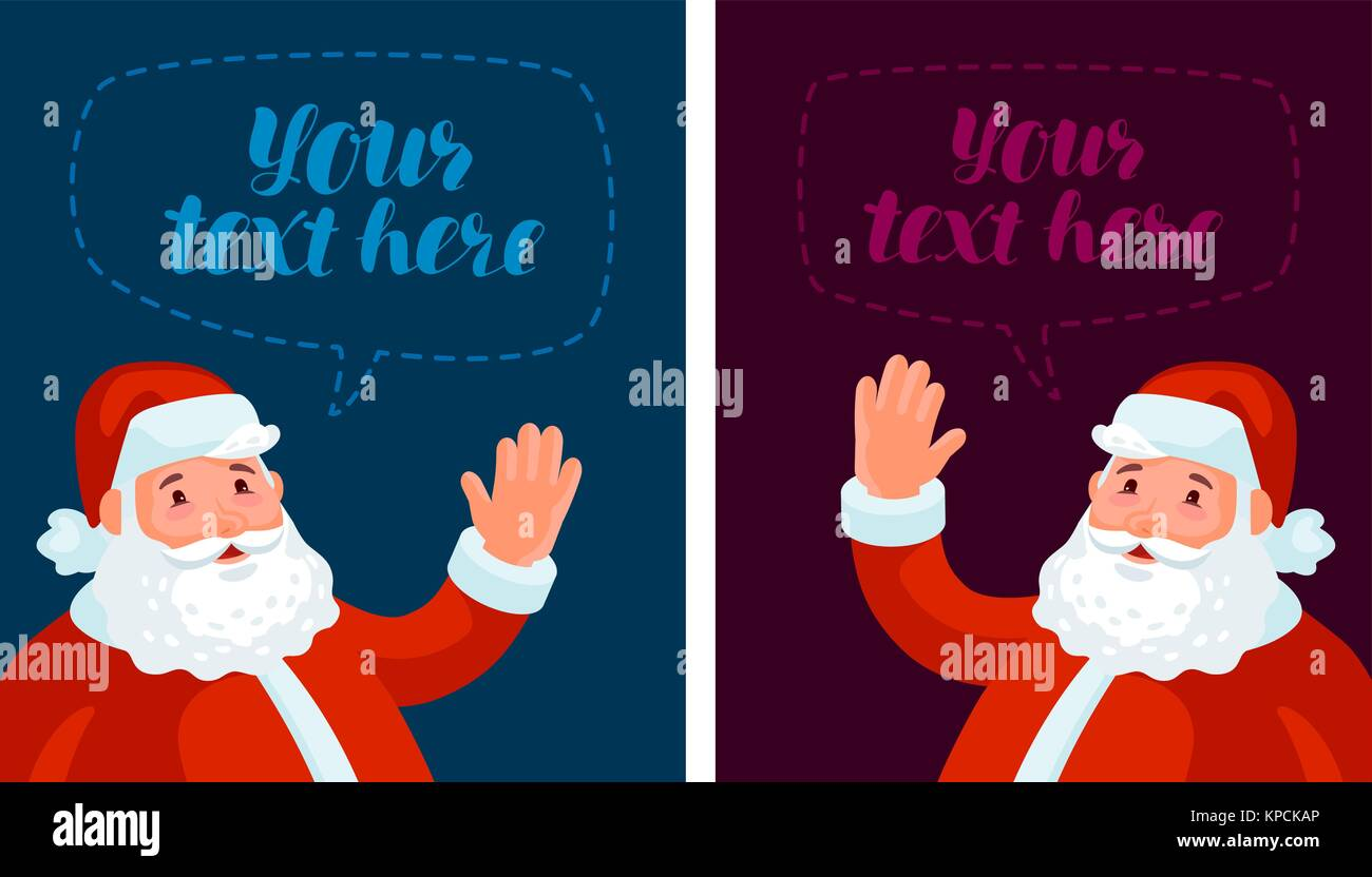 christmas xmas new year banner cartoon vector illustration