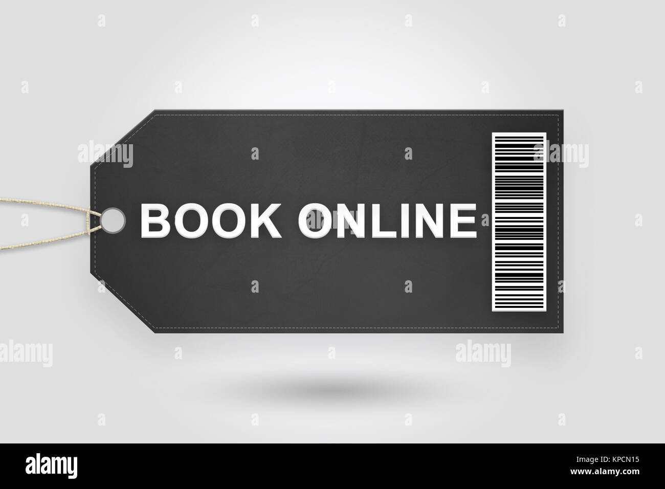 book online price tag - Stock Image