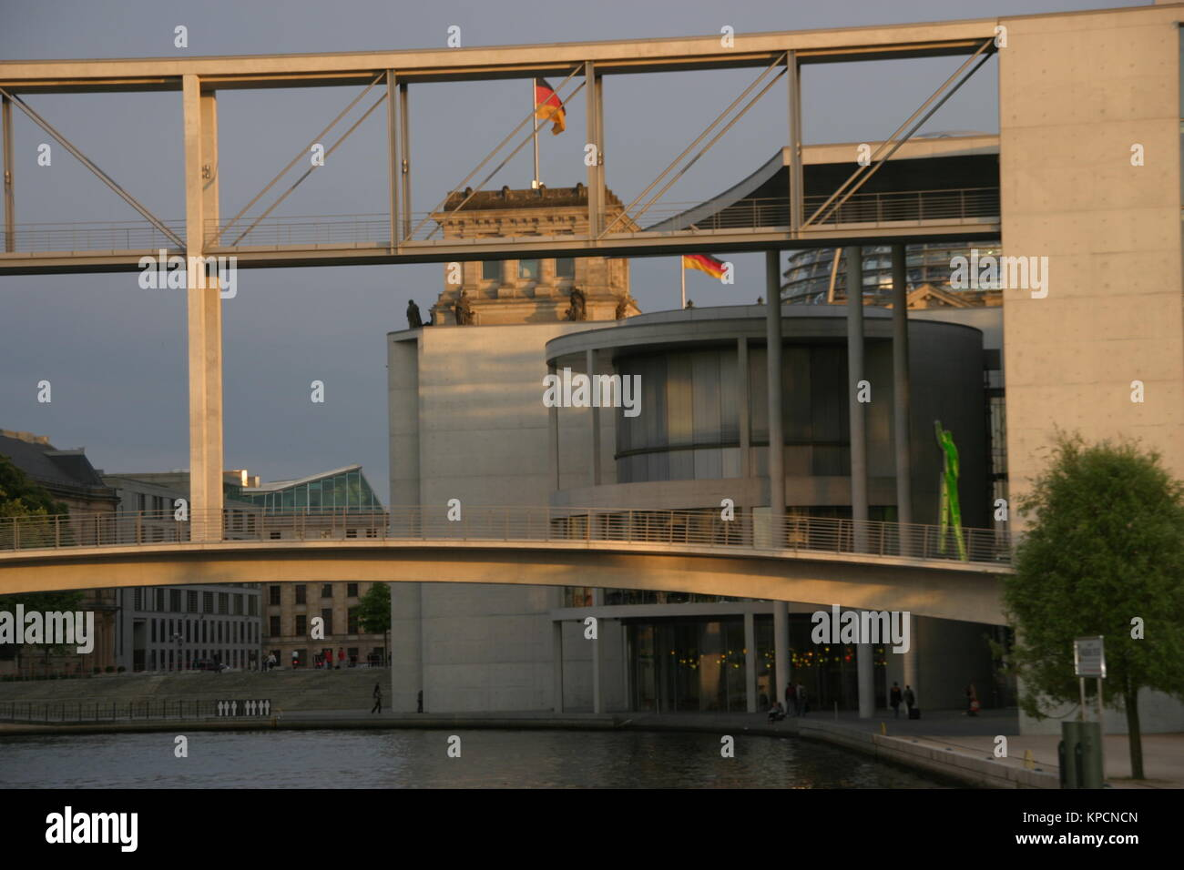 berlin government district bundestag - Stock Image