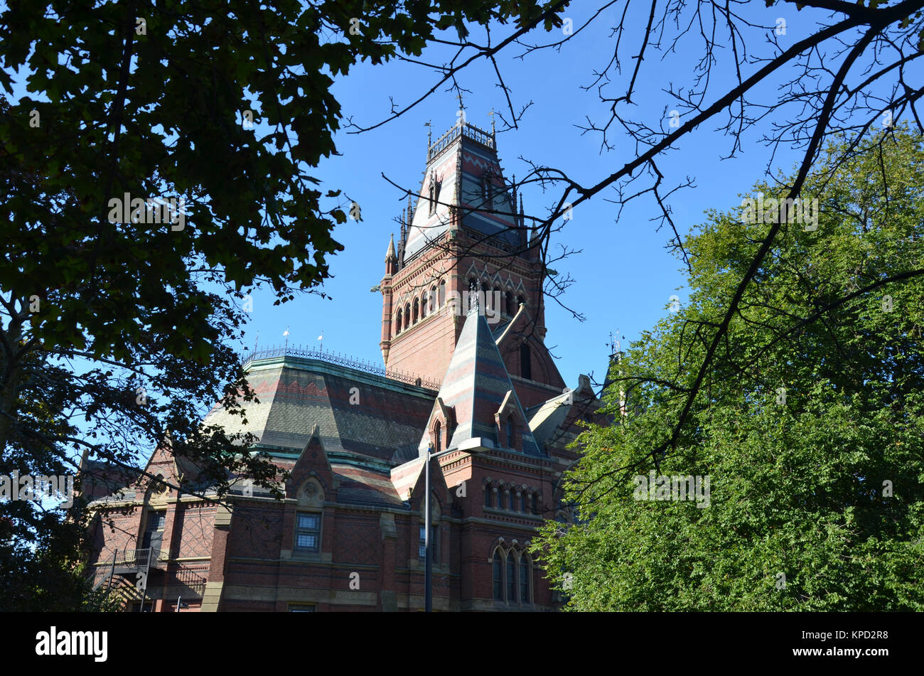 Exterior of the Memorial Hall of Harvard university in Cambridge,  Massachusetts, USA - Stock Image