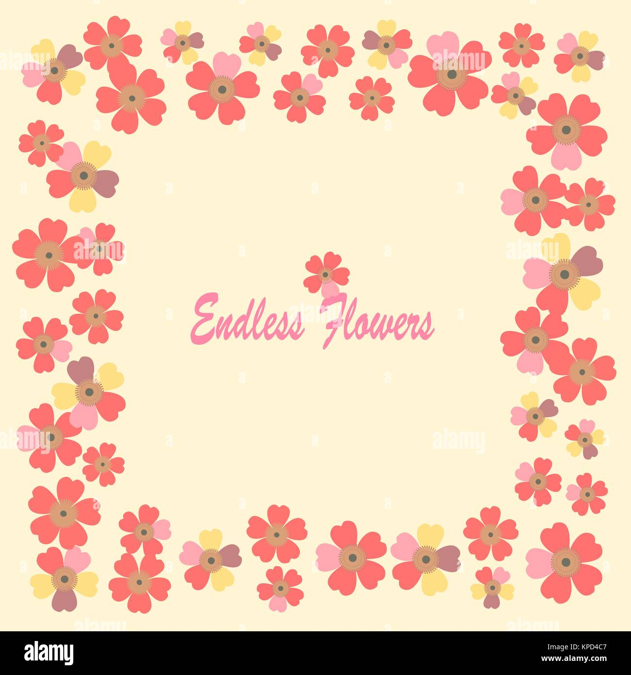 A Romantic Floral Background Flower Japanese Daisies Stock