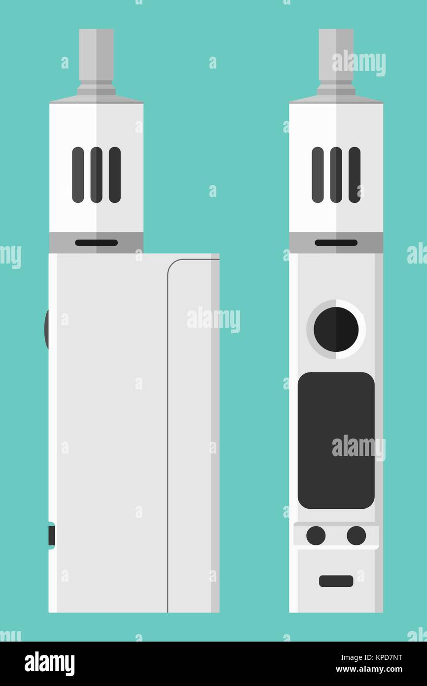 Vape box mod with atomizer - Stock Image