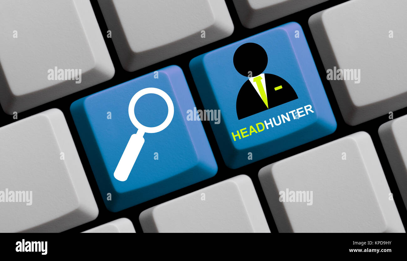 headhunter - search online professionals - Stock Image