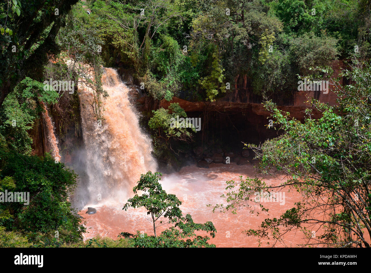 Kenya is a prime tourist destination in East Africa. Famous for wildlife and natural beauty. Thika Falls at the - Stock Image