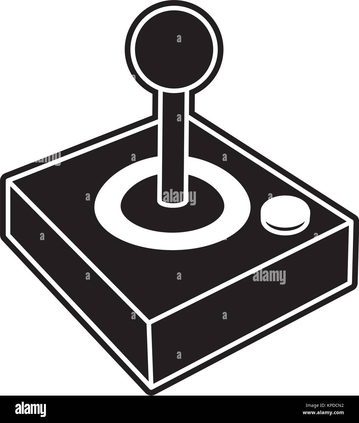Isolated joystick design - Stock Image