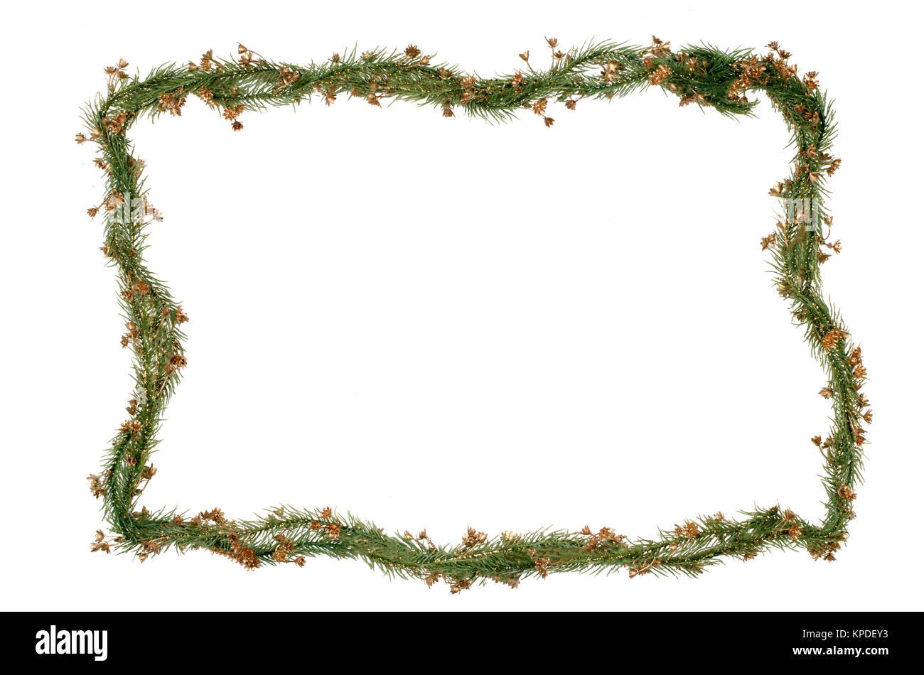 Christmas frame decoration - Stock Image