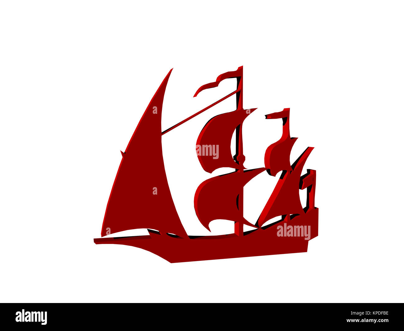 ships silhouettes - Stock Image