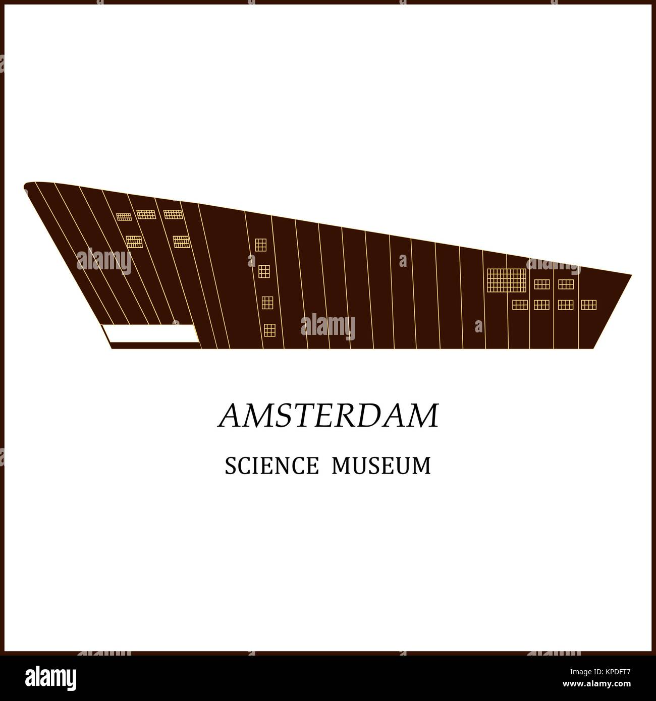 Banner of Amsterdam city. - Stock Vector