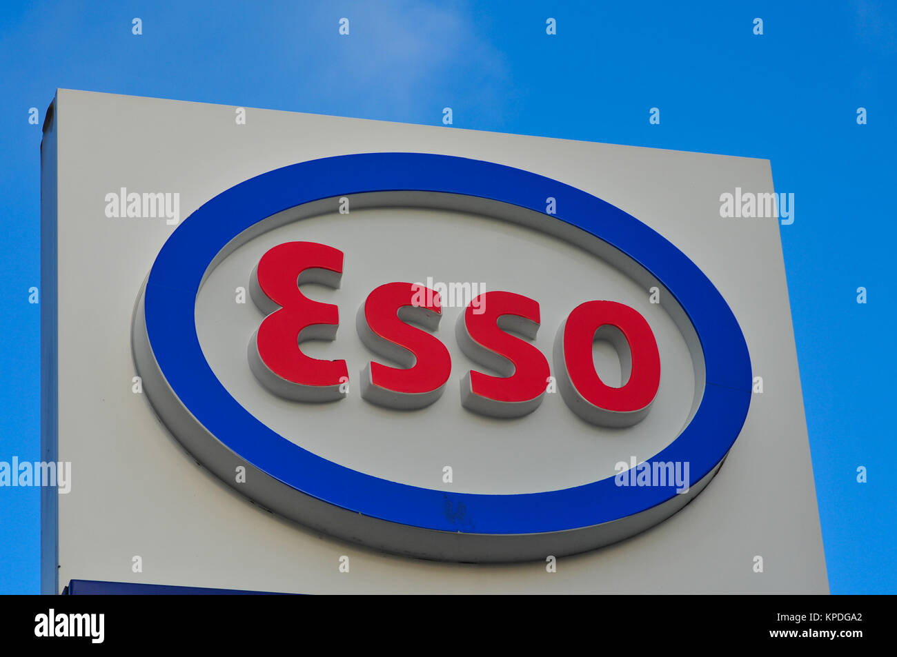 Esso petroleum company brand and logo - Stock Image