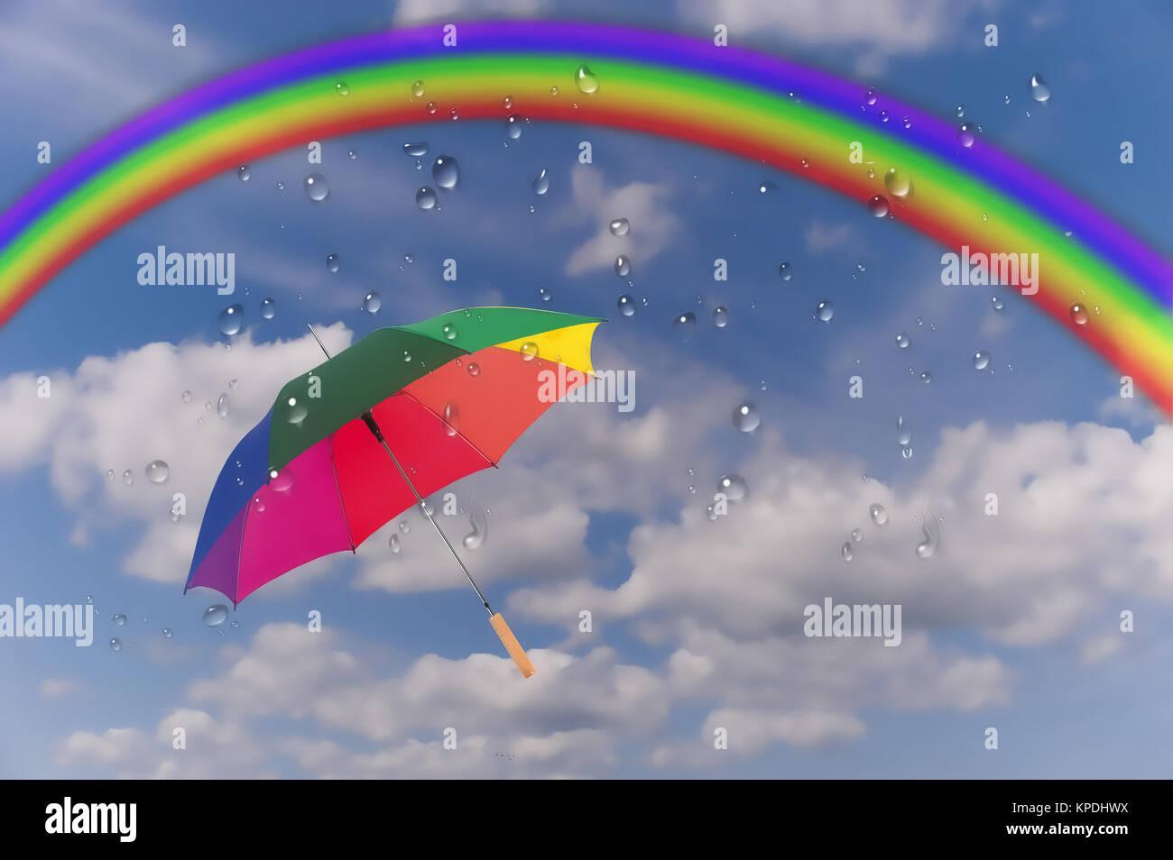 rain (bow) ... Stock Photo