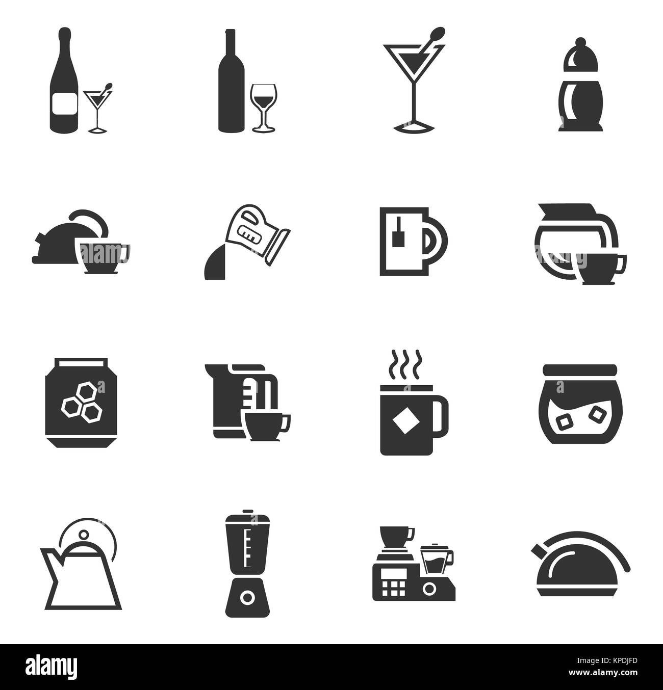 Utensils for the preparation of beverages - Stock Image