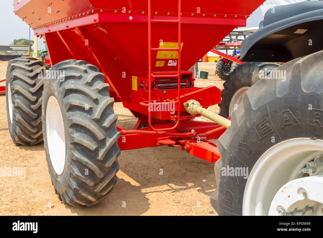 Detail of tractor - Stock Image