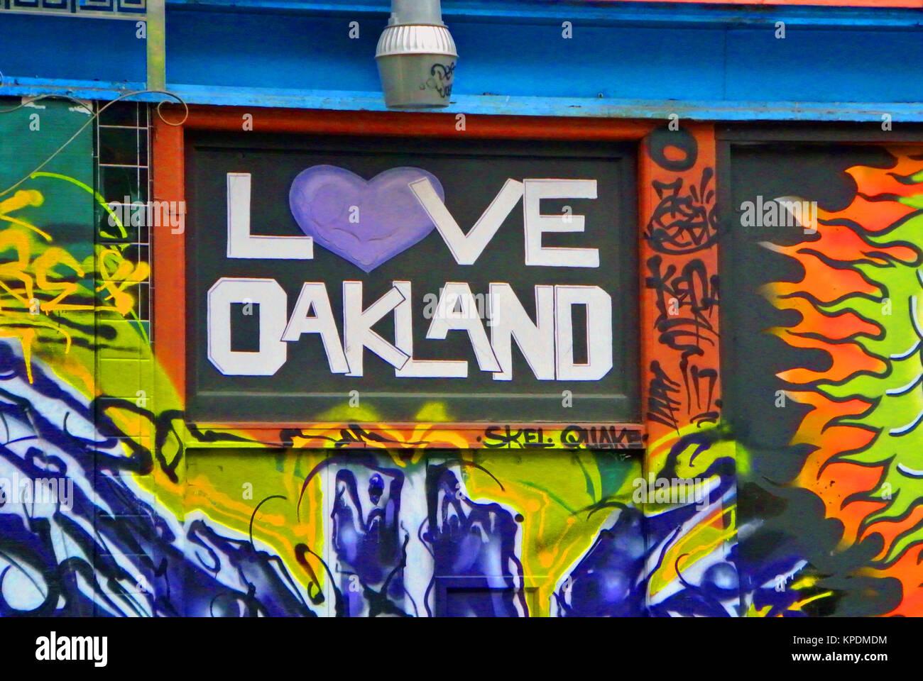 love oakland california sign Stock Photo